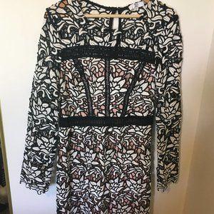 True Decadence Premium Lace Midi Dress